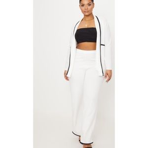 Jackets & Blazers - 2 Piece White set with Black Trim